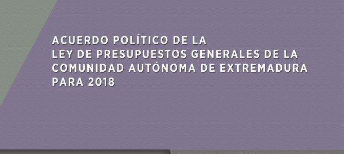 Podemos firma con la Vicepresidenta del Gobierno el acuerdo político para los Presupuestos de 2018